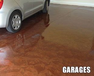 Garage Floor Pure Metallic Floor Coating Example