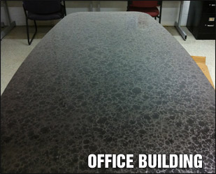 Office Building Pure Metallic Floor Coating Example