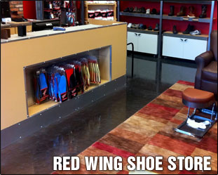 Red Wing Shoe Store Pure Metallic Floor Example
